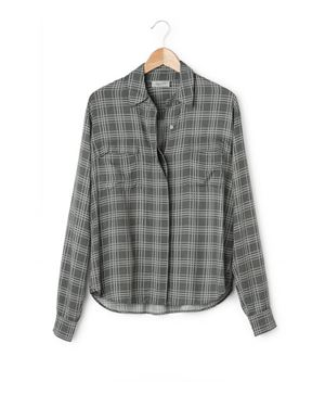 Hunkydory Hunkydory Joni Plaid Shirt Grey Was: £110.00 Now: £29.00