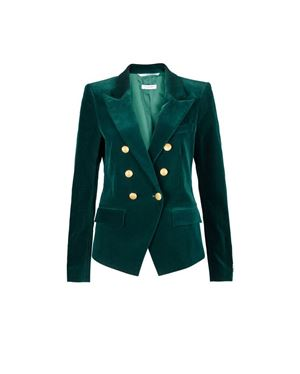 Hunkydory Reba Velvet Jacket Forest Was: £479.00 Now: £335.30