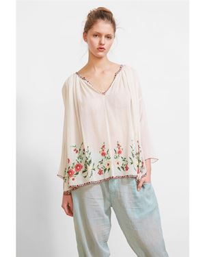 Mes Demoiselles Josepha Embroidered Blouse ecru Was: £210.00 Now: £105.00