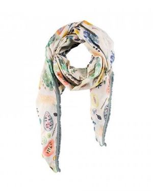 Pom Tropical Fruit Oversized Scarf multi £95.00