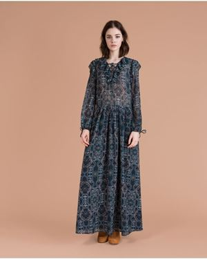 Suncoo Colombe Maxi Dress Green Was: £160.00 Now: £112.00