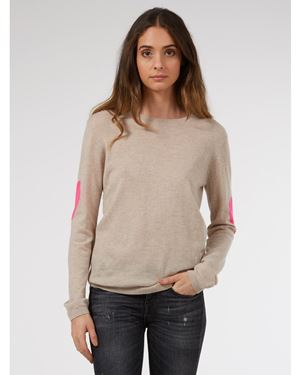 Wyse Ines heart Sleeve Cashmere Jumper taupe £195.00