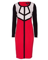 Nissa RZ5626 Block Dress Red £122.00 (was £175.00)