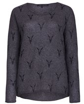 360 Sweater Elk Cashmere Sweater Charcoal & Black £255.00