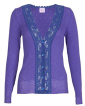 Palace London Blue Lace Cardigan Amethyst £49.00