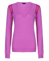 Joseph Cashair V Neck Purple £79.00 (was £255.00)
