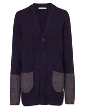 Punto D'oro Patch Pocket Cardigan Navy & Grey £149.00 (was £199.00)