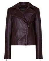 Weekend Max Mara Orsola Leather Jacket Dark Brown £439.00