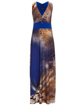 Ariana AD1521 Maxi Dress Blue Leopard £169.00