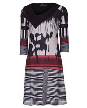 Ariana AD1431 Tunic Dress Black & Red £89.00 (was £119.00)