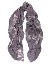 Yarnz Animal Lace Scarf Grey £104.00 (was £149.00)
