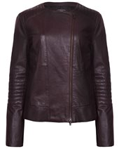 Weekend Max Mara Corrado Leather Jacket Kaki £475.00
