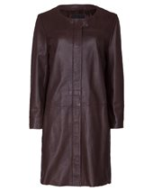Weekend Max Mara Calotta Leather Coat Tobacco £489.00