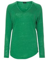 Joseph Linen V Neck Bottle Green £125.00