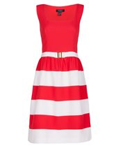 Nissa Striped Dress 2 Coral £72.00 (was £179.00)
