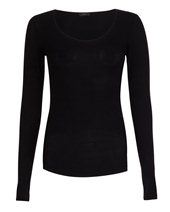 Joseph Long Sleeve Stretch Top Black £75.00