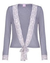Palace London Lace Tie Cardigan Graphite £42.00