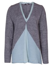 Peruzzi Chiiffon V Neck Sage & Grey £82.00 (was £109.00)
