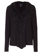 Nissa Ruffle Cardigan Black £88.00 (was £125.00)