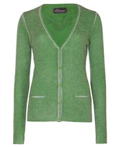 Princess Goes Hollywood Print Cashmere Cardigan Green Poison £209.00