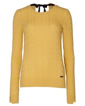 Caractere Cashmere Cable Knit Yellow £99.00 (was £245.00)
