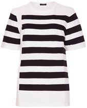 Joseph Striped T Shirt Black £95.00