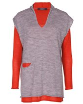 Crea Concept Layered Pullover Grey & Orange £139.00 (was £185.00)