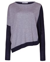 Caractere Silk Mix Knit Navy & Grey £116.00 (was £155.00)
