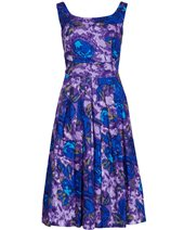 Emily and Fin Isobel Dress Purple Floral £72.00