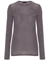 Joseph Round Neck Lurex Grey Chine £145.00