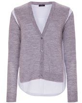 Joseph V Neck Merino Cardigan Grey Chine £255.00