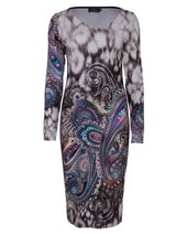 Ariana Paisley Dress Taupe £82.00 (was £109.00)