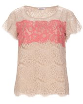 Marella Maonia Lace Top Beige & Coral £64.00 (was £159.00)