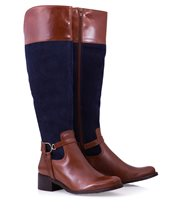 Vitti Love Crust Riding Boots Tan & Navy £139.00