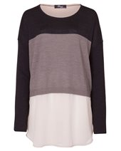 Peruzzi Shirt Tail Tunic Beige & Grey £89.00 (was £119.00)