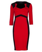 Ariana AD1451 Chevron Dress Black & Red £94.00 (was £125.00)