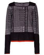 Crea Concept Fairisle Pullover Black & Cream £104.00 (was £139.00)