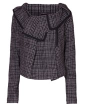 Crea Concept Cropped Check Jacket Black & Cream £149.00 (was £199.00)