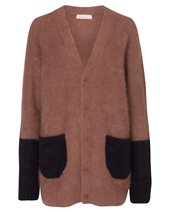 Punto D'oro Patch Pocket Cardigan Camel & Black £149.00 (was £199.00)