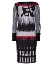 Ariana AD1430 Print Dress Black & Red £86.00 (was £115.00)