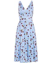 Stop Staring! ROBIN-01 Dress Blue & Cherry £215.00
