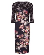 Ariana Rose Print Dress Black & Red £109.00 (was £145.00)
