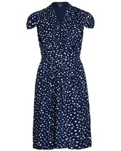 Emily and Fin Elsa Dress Navy & White £65.00