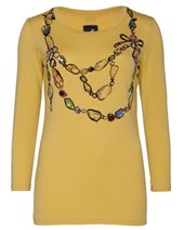 Caractere Jewelled Jersey Top Yellow £70.00 (was £99.00)