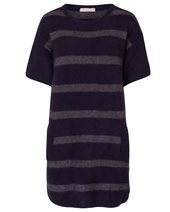 Punto D'oro Short Sleeve Tunic Knit Navy & Grey £70.00 (was £175.00)