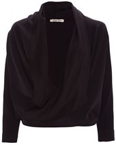 Crea Concept Silk Bolero Top Black £185.00