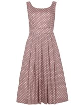 Emily and Fin Isobel Dress Taupe & White £72.00