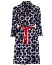 Vilagallo Ninna Dress Navy Chain £105.00