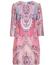Vilagallo Class Shift Dress Pink Paisley £109.00